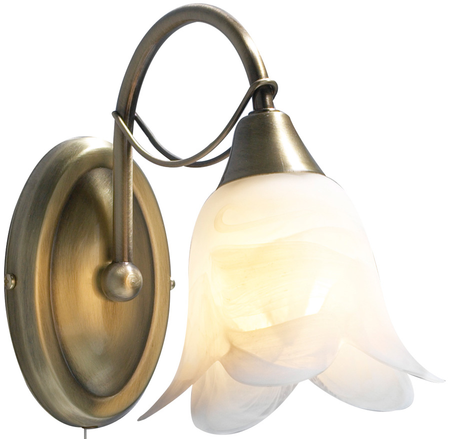 dar doublet switched single wall light antique brass dou
