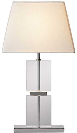 Dar Dream Stacked Quartz Glass Table Lamp With Shade