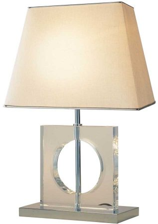 Dar Eco Small Quartz Glass Table Lamp With Shade