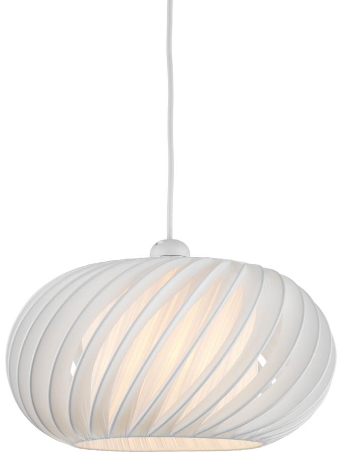 Dar Explorer Ribbed Fabric Pendant Lamp Shade Cream EXP6533