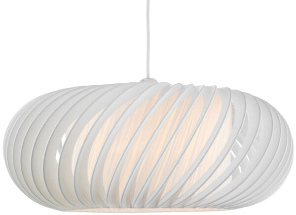Dar Explorer Large Ribbed Fabric Ceiling Lamp Shade White