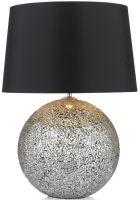 Dar Silver Glitter Medium Table Lamp With Black Shade