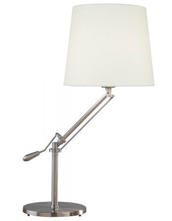 Infusion Satin Chrome Adjustable Reading Table Lamp