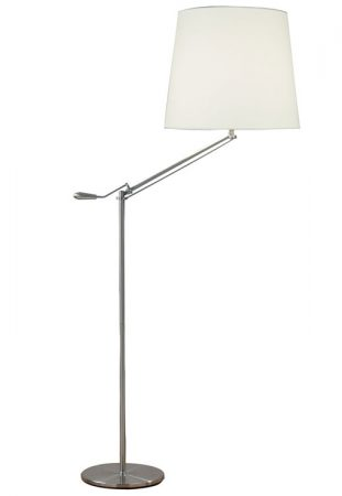 Infusion Satin Chrome Adjustable Floor Reading Lamp