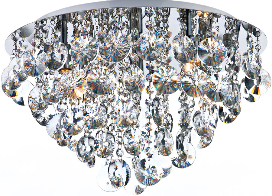 Dar jester modern 5 lamp flush crystal ceiling light chrome jes5450 dar jester modern 5 lamp flush crystal ceiling light chrome mozeypictures Choice Image