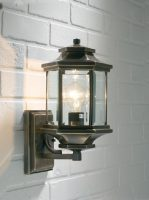 Dar Ladbroke Traditional Antique Brass Outdoor Wall Light