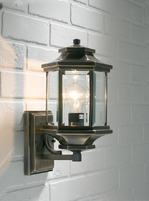 Dar Ladbroke Traditional Antique Brass Outdoor Wall Light Lad1675