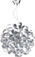 Dar Rawley Medium 9 Light Ribbon Pendant Brushed Aluminium
