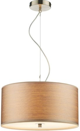 Dar Tuscan Modern Taupe String Shade 3 Light Pendant