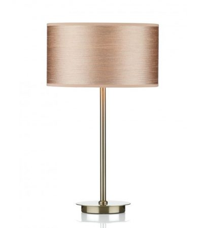 Dar Tuscan Modern Taupe Shade Satin Chrome Table Lamp