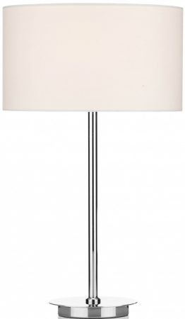 Dar Tuscan Modern Cream Drum Shade Chrome Table Lamp