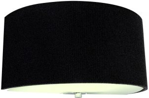 Dar Zaragoza Modern Black Half Round Drum Wall Light