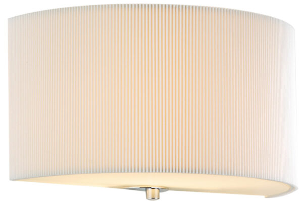 Dar Zaragoza Modern Cream Half Round Drum Wall Light