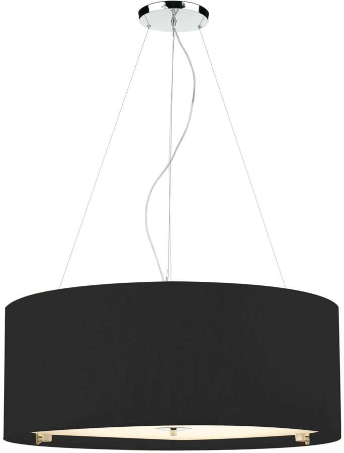 Dar zaragoza large modern 6 light pendant 90cm black drum zar0622 dar zaragoza large modern 6 light pendant 90cm black drum mozeypictures Gallery