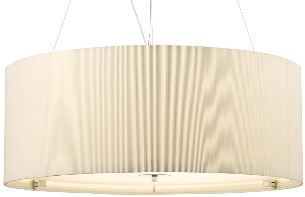 Dar zaragoza large modern 6 light pendant 90cm cream drum zar0633 dar zaragoza large modern 6 light pendant 90cm cream drum aloadofball Gallery