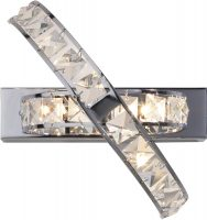 Dar Eternity Modern 3 Lamp Crystal Wall Light Polished Chrome