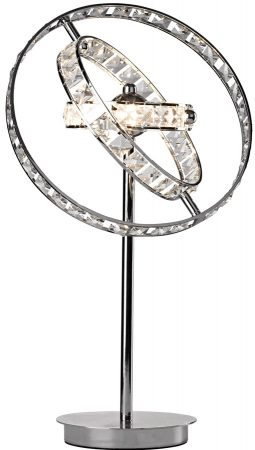 Dar Eternity 4 Light Crystal Table Lamp Polished Chrome With Dimmer
