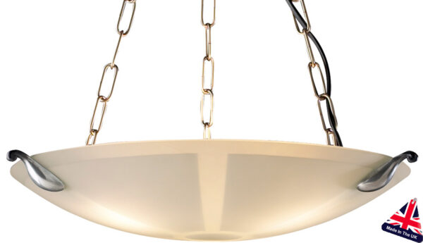 David Hunt Savoy Etched Glass Art Deco Pendant Light UK Made