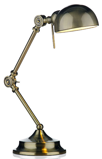 Ranger Art Deco Style Antique Brass Desk Lamp - Ranger Art Deco Style Antique Brass Desk Lamp RAN4075
