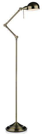 Ranger Contemporary Antique Brass Floor Lamp