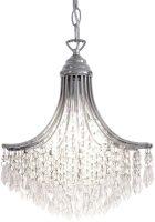 Dar Suri Art Deco Style Glass Pendant Light Chrome
