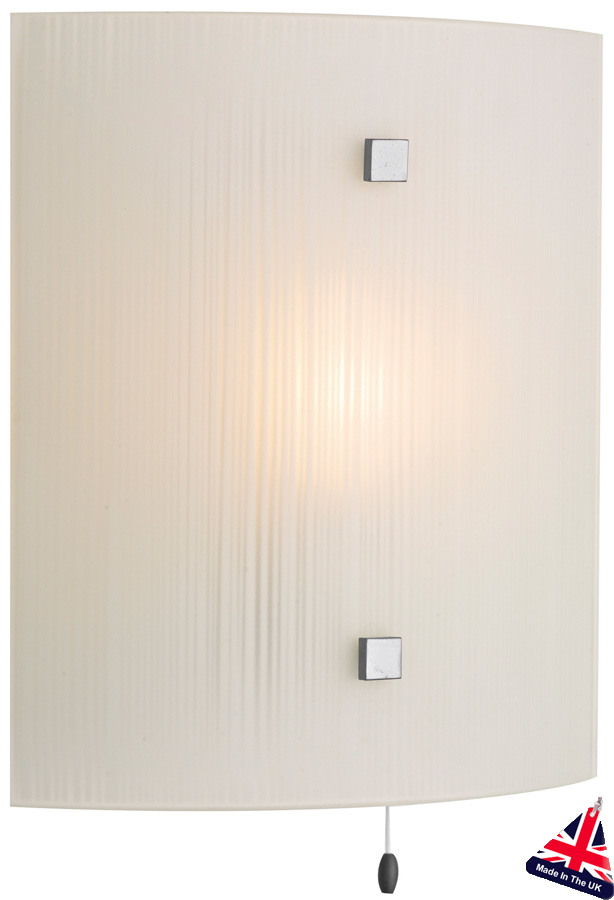 Switched Wall Light White : Modern White Swirl Glass Switched Wall Light SWL0767
