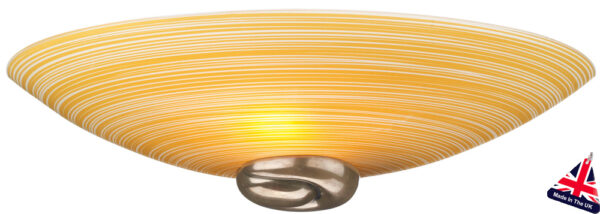 Art Deco Style Amber Swirl Glass Wall Washer Light