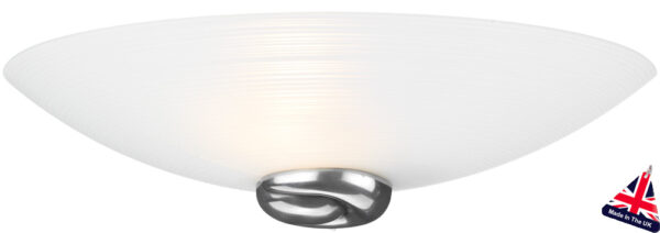 Art Deco Style White Swirl Glass Wall Washer Light