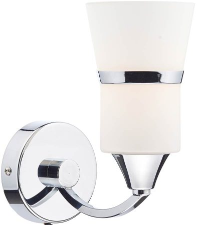 Dar Dublin Modern Switched LED Single Wall Light Chrome