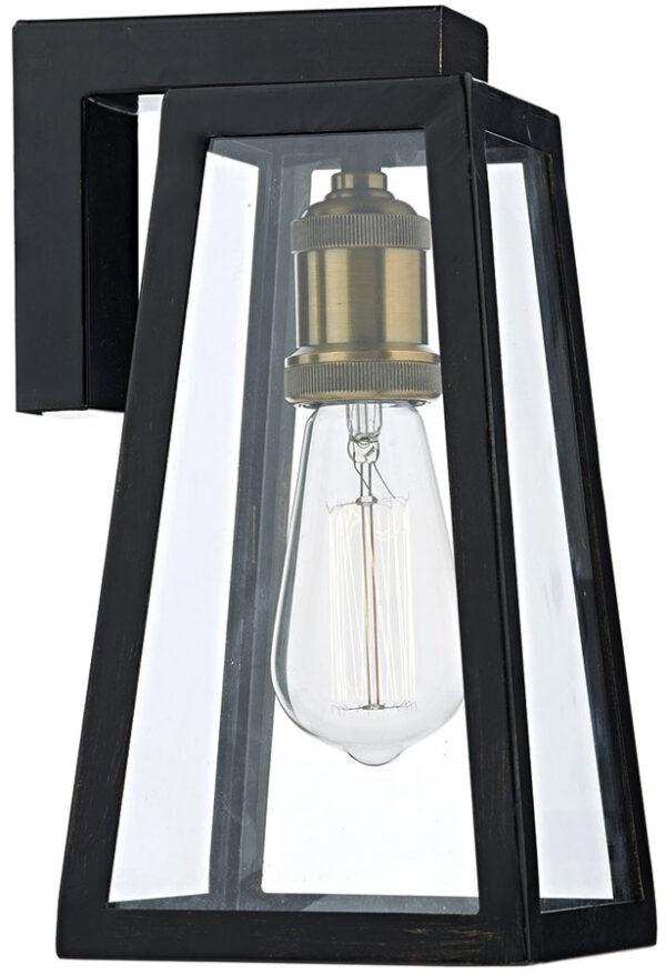Dar Duval Traditional 1 Lamp Outdoor Wall Light Black