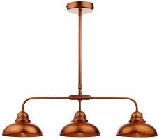 Dar Dynamo Retro Style Antique Copper 3 Light Bar Pendant