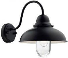 Dar Dynamo Traditional 1 Lamp Outdoor Wall Light Matt Black