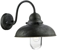 Dar Dynamo Traditional 1 Lamp Outdoor Wall Light Aged Iron