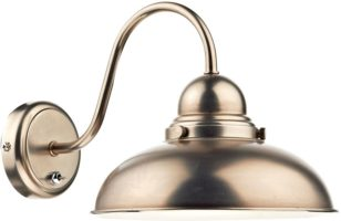 Dar Dynamo Retro Style Switched Antique Chrome Wall Light