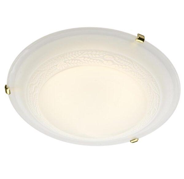Dar Damask 3 Light 50cm Alabaster Glass Flush Mount Low Ceiling Light