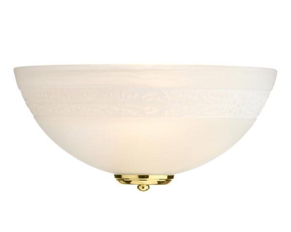 Dar Damask Classic 1 Lamp Alabaster Glass Wall Washer Light