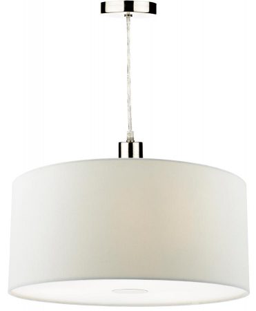 Dar Ronda 40cm White Drum Easy Fit Pendant Shade With Diffuser