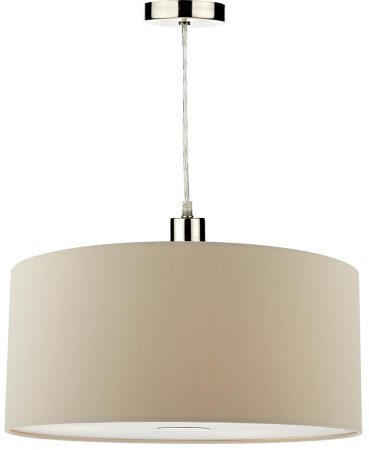 Dar Ronda 40cm Ecru Drum Easy Fit Pendant Shade With Diffuser