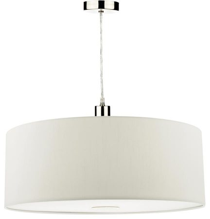 Dar Ronda 60cm White Drum Easy Fit Pendant Shade With Diffuser