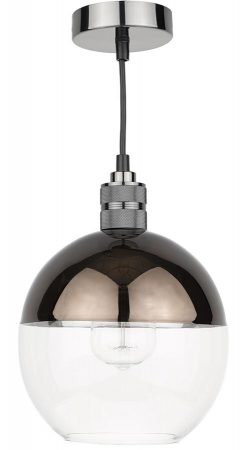 Dar Rue Easy Fit Bronze And Clear Glass Pendant Light Shade