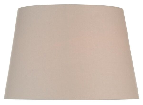 Lined Cream Cotton 45cm Tapered Large Table Lamp Shade