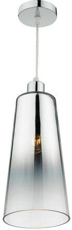 Dar Smokey Easy Fit Graduated Chromed Glass Pendant Light Shade