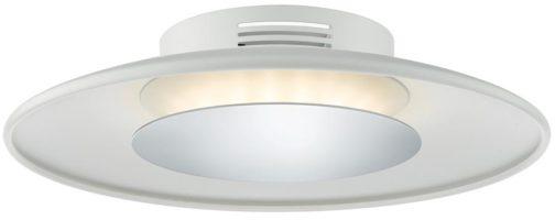 Dar Worcester Small 18w LED White Flush Light With Chrome