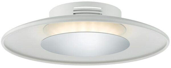 Dar Worcester Small 18w LED White Flush Light With Chrome