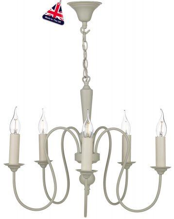 David Hunt Therese 5 Light Chandelier Pendant French Cream