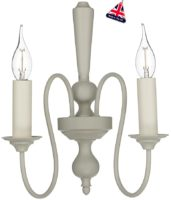 David Hunt Therese 2 Light Wall Lamp French Cream