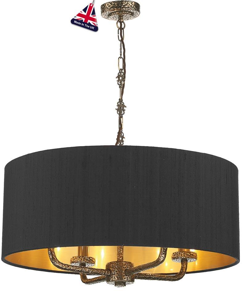 David hunt sloane 4 light silk drum shade pendant bronze slo0400gd david hunt sloane 4 light silk drum shade pendant bronze aloadofball Images