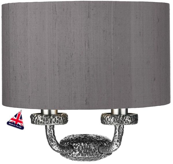 David Hunt Sloane Contemporary Twin Wall Washer Light Pewter