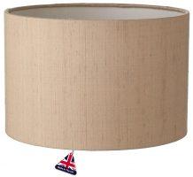 Zuton White Lined 25cm Silk Drum Lamp Shade Colour Choice