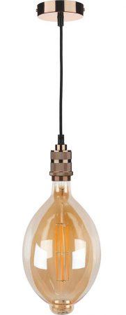 Jules XXL Filament 8w Dimmable LED E27 Amber Light Bulb 400 Lumen